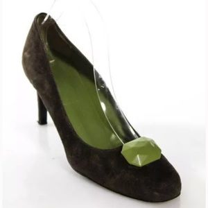 Boden Shoes - BODEN DARK BROWN SUEDE/JADE TONED  SIZE 39 9